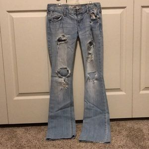 Very distressed Hollister jeans